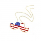 British Style Lovely Union Jack Handlebar Sweater Chain Women's Necklace - Multicolored