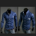 9025 Men's Slim Fit Long-Sleeve Shirt - Light Blue (Size L)