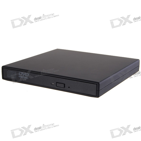 Slim Portable USB 2.0 8X DVD-ROM + 24X CD-R + 16X CD-RW Combo External Optical Drive slim portable usb 2 0 dvd rom cd rom external optical drive black
