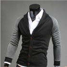 REVERIE UOMO WY29 Fashionable Slim Fit Men's Jacket - Black + Grey (Size-XL)