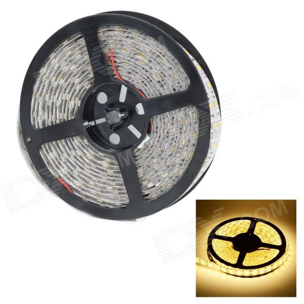 HML Waterproof 144W 6200lm 600-5050 SMD Warm White luz flexível Strip (DC 12V / 5m)