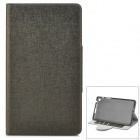 YS-002 Stylish Super Thin Flip-open PU Leather Case w/ Holder + Card Slot for Google Nexus 7