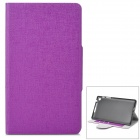 Protective Flip Open Case w/ Stand / Card Slots for Google Nexus 7 II - Purple
