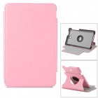 Stylish PU Leather Case w/ 360' Rotating Back + Auto Sleep + Holder for ASUS ME173 - Pink