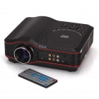 EJIALE EJL010 640 x 480 Portable Home Theater DVD Projector w/ TV + USB + SD - Black + Red