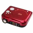 EJIALE EJL006 40Lmens Portable Home Theater DVD Projector w/ TV + USB + SD - Red