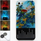 Protective Plastic Back Case w/ Calling 7-Color Flash / Contract Switch for Iphone 5 - Multicolored