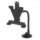 "H29 Car Windshield Holder Swivel Mount w/ C60 7~10"" Back Clip for Ipad / Ipod / Tablet PC - Black"