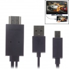 Mobile Phone to HDTV Medialink Micro USB 3.0 To HDMI Cable for Galaxy Note 3 - Deep Purple (180cm)