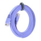 High Speed Cat6a RJ45 Male to Male Flat Network Cable - Light Purple (200cm)
