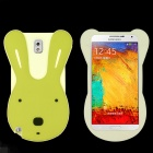 Cute Rabbit Style Protective Silicone Back Case for Samsung Galaxy Note 3 N9000 - Beige + Green