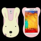 Cute Rabbit Style Protective Silicone Back Case for Samsung Galaxy Note 3 N9000 - Pink + White