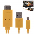 Mobile Phone to HDTV Medialink Micro USB 3.0 to HDMI MHL Cable for Samsung Galaxy Note 3 - Yellow