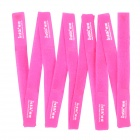 Nylon Strap Power Wire Management Cable Tie Organizer - Deep Pink (10 PCS)