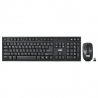 Jeway JK-8203 2.4GHz Wireless 104-Key Keyboard + 1200dpi Optical Mouse Set - Black