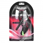 OVLENG M700 Single-Wired In-Ear Earphone w/ Microphone / Ear-Hook - Black (3.5mm Plug / 130cm-Cable)
