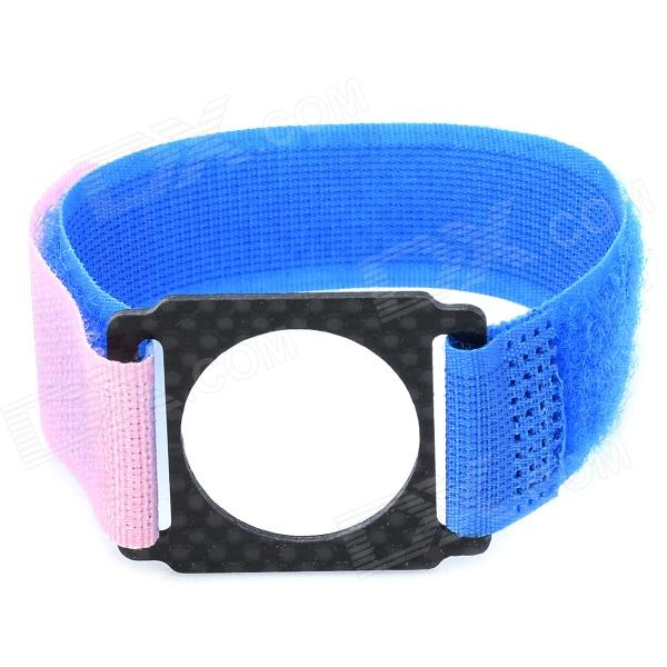Nylon Cradle Head Strap Band for GoPro Hero 3 + More - Blue + Pink + Black