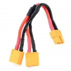 XT60 2 x Male to Female Parallel Connection Quadcopter Power Distribution Cable - Yellow + Red