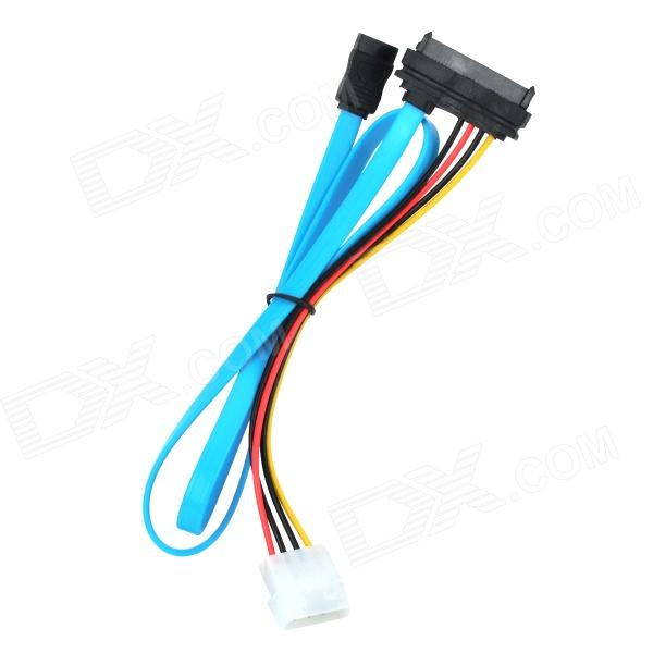 29-Pin SAS Male to SATA Male Adapter Cable w/ 4-Pin IDE Power Cable - Blue + Black + Red + Yellow speakon connector neutrik type nl4fx 4 pole plug male speaker audio 4 pin connector led connector