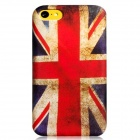 Union Jack Pattern Protective Plastic Back Case for Iphone 5C - Red + White + Blue