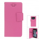 NEWTOP Fashionable Suction Cup PU Leather Case for Samsung Galaxy S3 i9300 / S4 i9500 - Deep Pink