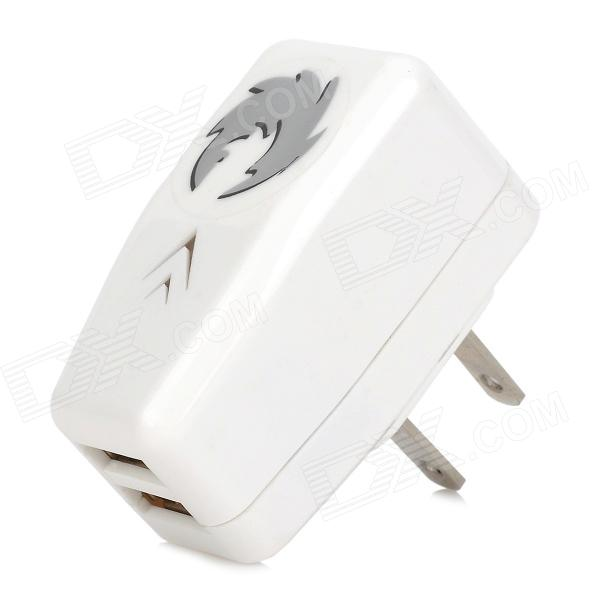 Universal 5V 2.1A Dual Female USB Output US Plug Power Adapter for Iphone / Ipad / Ipod / HTC + More universal ac charging adapter charger w dual usb output for iphone ipad ipod white eu plug