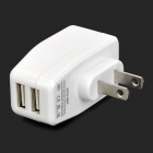 Universal 5V 2.1A Dual Female USB Output US Plug Power Adapter for Iphone / Ipad / Ipod / HTC + More