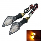0.5W 60lm 580nm 10-LED Motorcycle Yellow Light Steering Lamp (12V/2PCS)