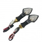 0.5W 580nm 60lm 10-LED motocicleta amarilla Lámpara Directivo Light (12V/2PCS)