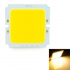 Square 20W 2000lm 3200K COB LED Warm White Light - Silver + Yellow (32~36V)