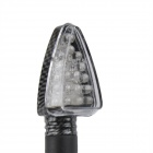 A-1308 Carbon Fiber 2W 112lm 18-LED Yellow Light Motorcycle Turn Signals Lamps - Black (12V / 4 PCS)