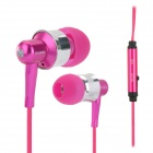 OVLENG iP670 Stereo In-Ear Earphones for Ipod / Iphone / Ipad / Samsung + More - Deep Pink + Silver