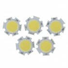 WT-MGW3 3W 330lm 6200K White Light LED Light Emitter - Silver + Yellow (5 PCS / 9-9.9V / 350mA)
