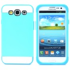 NX CASE Protective  Silicone Back Case for Samsung S3 i9300 - Blue + White