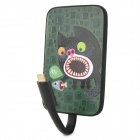Ounuo 4000mAh Mobile Power Source Battery w/ Micro USB Cable for Samsung / HTC - Black + Green