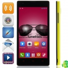 "M1 MTK6572 Dual-Core Android 2.3.5 GSM Bar Phone w/ 4.63"", Quad-Band, FM and Wi-Fi - Black + Yellow"