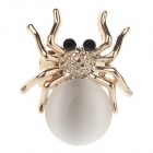 Fashionable Spider Shape Opal Clip Style Earrings - Golden + Black
