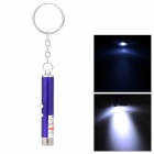 Doglemi DC1002 2-in-1 White Light + Red Laser Flashlight Keychain - Purple