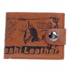 WEIJUESHI Fashion Cavalier Pattern PU Leather Men's Wallet  w/ Card Port - Brown