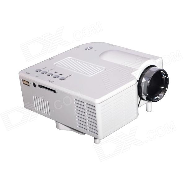 Geekwire LP-3A Portable LED Projector w/ HDMI, VAG, USB 2.0, AV, SD, RC - White (US Plug)