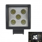 Waterproof 15W 750lm 6500K 5-LED White Light Working Light / Electric Light / Ship Light - (9~32V)
