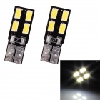 T10 2W 96lm 6 x SMD 5630 Blanco Light Car Steering / Ancho de la lámpara LED (DC 12V / 2 PCS)