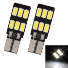 T10 3W 144lm 6 x SMD 5630 LED White Light Car Lamp (DC 12V / 2 PCS)