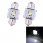 Festoon 31mm 3W 210lm 1 x Epistar White Light Car Auto Reading Lamp (12V / 2 PCS)