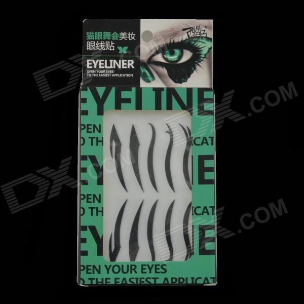 Portable Temporary Smoky Eyes Shadow Eyeliner Sticker- Black (4 PCS)