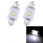 Girlande 39mm 3W 210lm Epistar 1 x White Light Car Auto Leselampe (12V / 2 PCS)