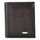 FUERDANNI 4456 Stylish Head layer Cowhide Folding Men's Wallet - Brown