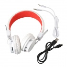 SOUND FRIEND SF-SH011B Bluetooth V3.0 + EDR Headset with Microphone - White + Red