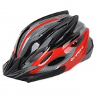 KUYOU KY-040 Outdoor Bicycle One-Piece Helmet w/ Back Light - Red + Black (Free Size)