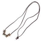 Fashionable Star Style Zinc Alloy Necklace for Women - Bronze + Brown